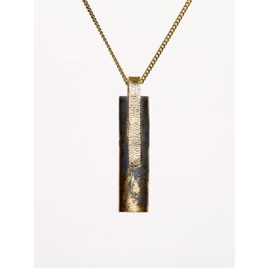 [GS03] Beton Halskette Kette - 925 BLACK GOLD