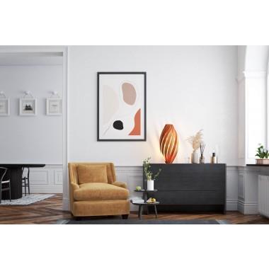 Bodenleuchte 'Ardēre' aus Kirschbaum - 70cm