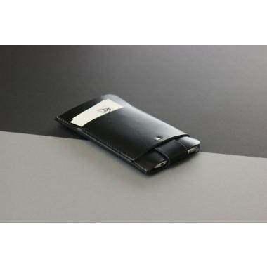 Slim Fit Hülle für iPhone 6 Plus / 6S Plus aus Premium Leder - Schwarz [BL]