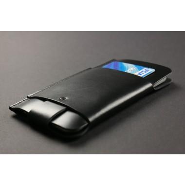 Alexej Nagel iPhone 5/5S/SE Slim Fit Hülle aus Premium Leder - schwarz[BL]