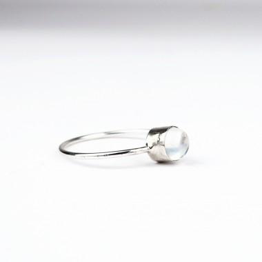 ST'ATOUR COSIMA – Ring mit Mondstein in Silber