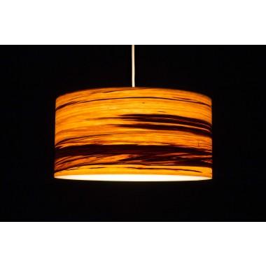 Hängeleuchte CROWN aus Echtholzfurnier Satin Nussbaum geflammt (vers. Größen)