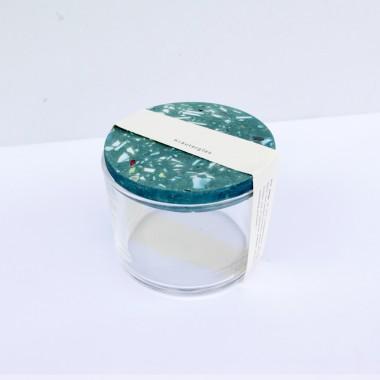 VLO design / Terrazzo Kleines Glas mit grünem Deckel
