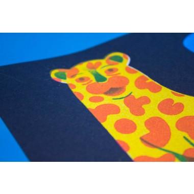 Martin Krusche - Stencilprint »Ceramic Leo«