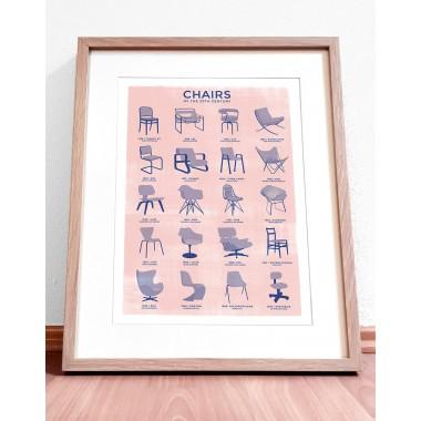 Chairs - A3 Risograph