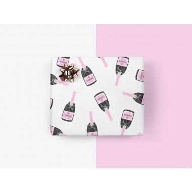 5x Geschenkpapier / Champagner (gefaltet)