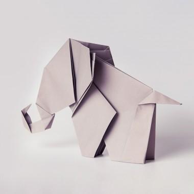 Origami Print Elefant von Christina Pauls