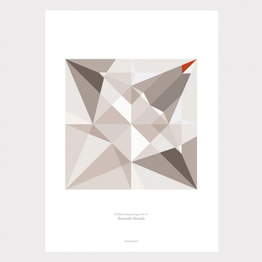 Origami Print Kranich, mehrfarbig