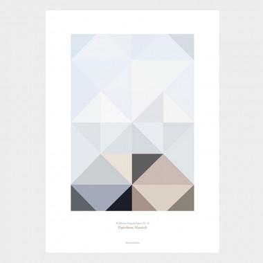 Origami Artprint Papierboot, mehrfarbig
