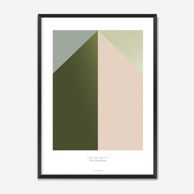 Origami Poster Papierflieger, mehrfarbig