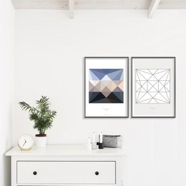 Origami Artprint Windrad, mehrfarbig