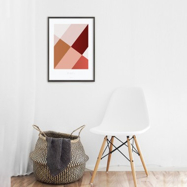 Origami Poster Sunglasses Diva, Rot
