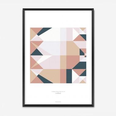 Origami Poster Goldfisch, mehrfarbig