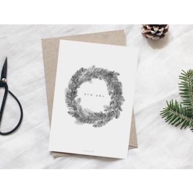 typealive / Weihnachtskarten 4er Set / Christmas Wreath