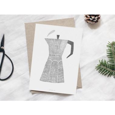 typealive / Weihnachtskarten 4er Set / Coffee Pot