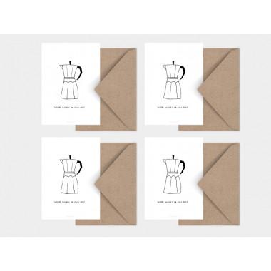 typealive / Weihnachtskarten 4er Set / Cold Days