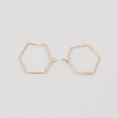 fejn jewelry - Creole 'hexagon'