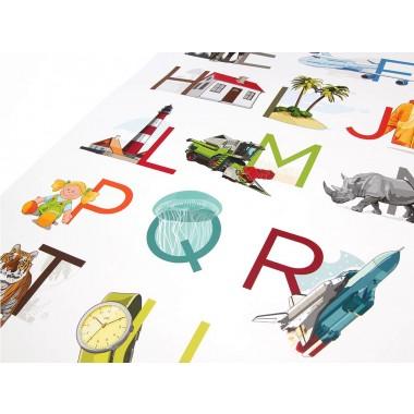 Fnurst ABC Plakat / Alphabetplakat