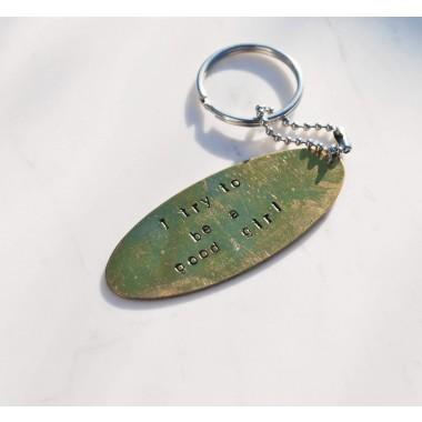 iloveblossom NAUGHTY BUT NICE Schlüsselanhänger / Oval Tags
