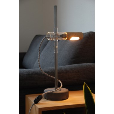 YRON Tischleuchte verstellbar - Glaskörper klar