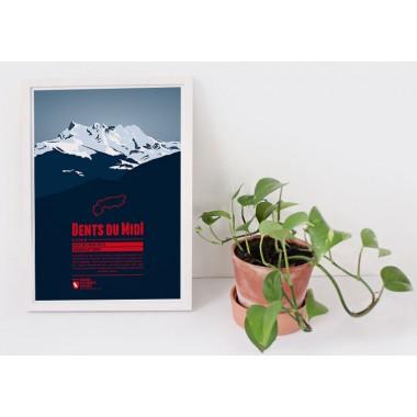 Dents du Midi - Bergdruck