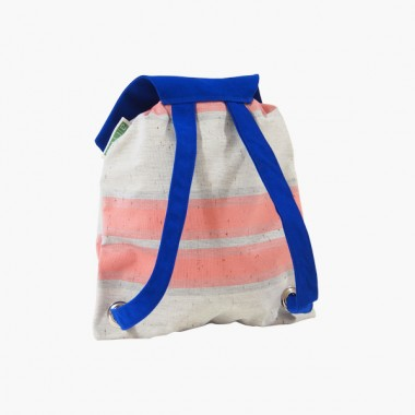 alvaGold Djangolino Recyclingrucksack (blau/rosa)