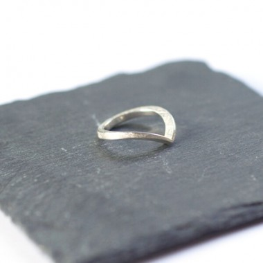 """DOPPELLUDWIG Ring """"ANGESPITZT"""" aus 925/-  Silber"""