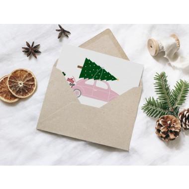 typealive / Weihnachtskarten 4er Set / Driving Home