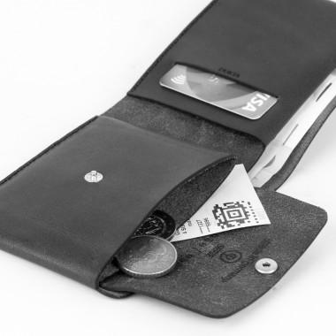 DUKTA  Portemonnaie 3 Leder braun