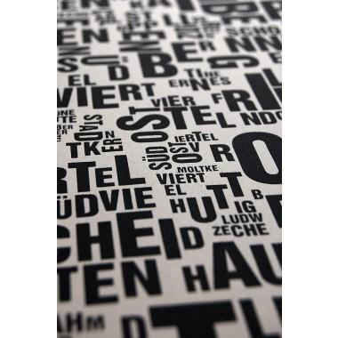 Buchstabenorte Poster ESSEN Stadtteile Typographie