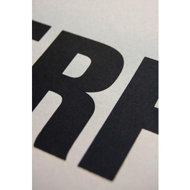 Buchstabenort Erfurt Stadtteile-Poster Typografie