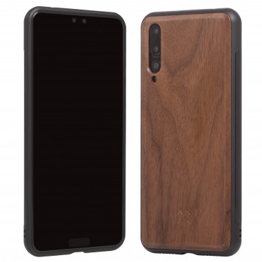 Woodcessories - EcoBump - Premium Design Hülle, Case, Cover, Schutzhülle für das Smartphone aus FSC zertifiziertem Walnuss Holz (Huawei P20 Pro)