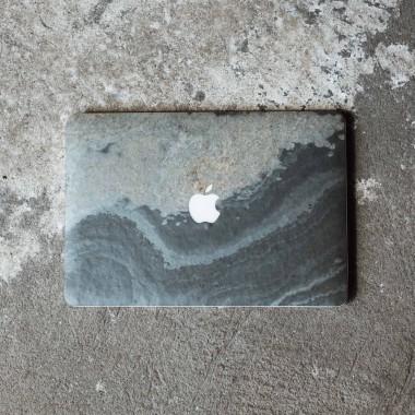 """Woodcessories - EcoSkin Stone - Design Apple Macbook Cover, Skin, Schutz für das Macbook aus hochwertigem Stein (Macbook 15"""" Pro Retina (until 2016), Volcano Schwarz, Camo Grau, Antik Weiß, Canyon Rot)"""