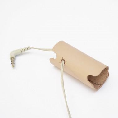 Kopfhörer, Headset Organizer Kopfhörertasche, Leder, Farbe Naturell