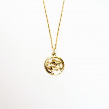 PISCES // FISCHE – Sternzeichenkette in Gold, Silber oder Roségold