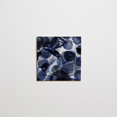 Fläpps Regal 40x40-1 – Bubbles Indigo by Pattern Studio