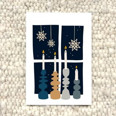 """Postkartenset """"Weihnachten auf Skandinavisch"""" / 5 Stück"""