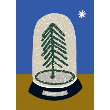 """3 Weihnachtspostkarten """"Schneekugel"""""""