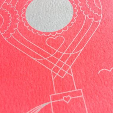 Feingeladen // ROUNDABOUT // Heißluftballon »Zur Hochzeit« (FR) Klappkarte, A6