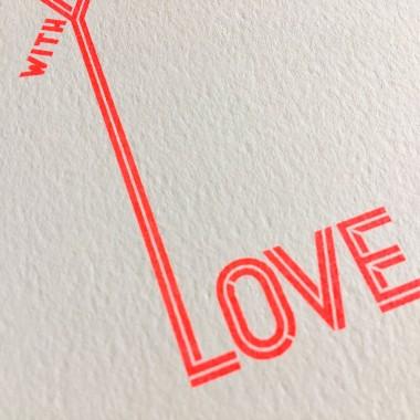 Feingeladen // TYPOGRAFICA // Love (FR) Klappkarte, A6