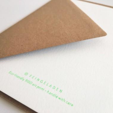 Feingeladen // LINE ART // Tree (FG) Klappkarte, A6