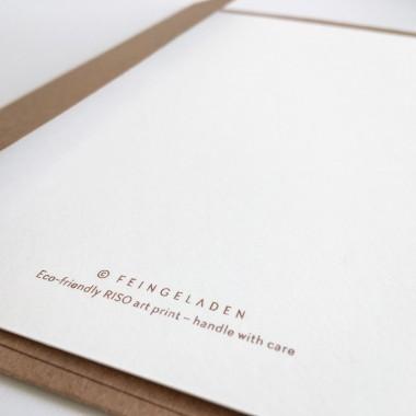 Feingeladen // FLASHY TRIANGLES // Star (CPFR) Kunstdruck, A5
