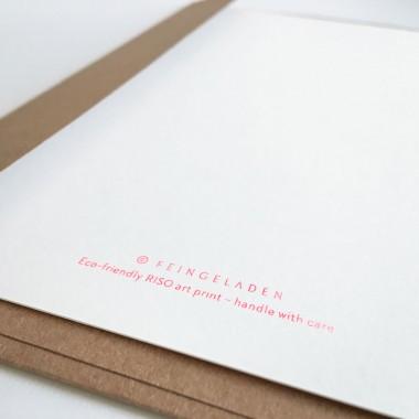 Feingeladen // LINE ART // Heart (FR) Kunstdruck, A5