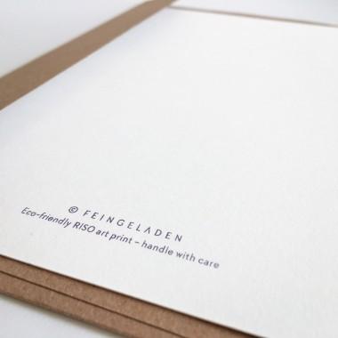 Feingeladen // LOVELY BEASTS // Stork »Hello Baby« (PPSF) Kunstdruck, A5