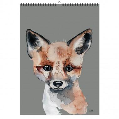 Tierfreunde - 2021 Familien-Kalender mit Poster