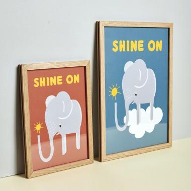 Family Tree Shop / Poster / Elefant blau
