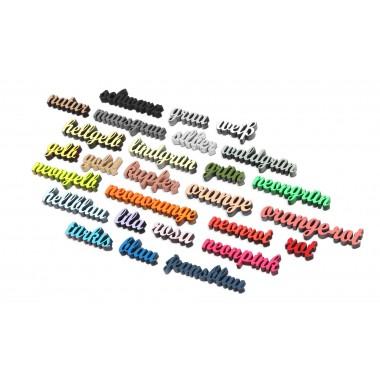 NOGALLERY Tannenzapfen mit Mistelzweig - Deko Schriftzug Holz
