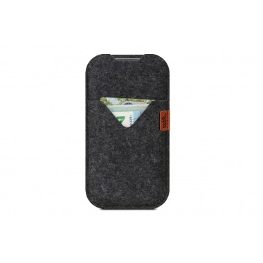 "iPhone SE (2020) / 8 / 7 / 6s (4,7"") Hülle SHETLAND - 100% Merino Wollfilz"