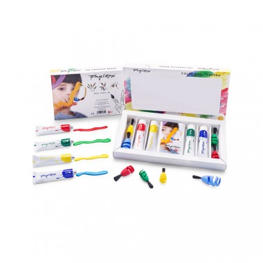 "FINGERMAX - Fingerpinsel Malkasten Set ""Wavebox"""