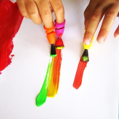 FINGERMAX - Fingerpinsel 2x 4er Set